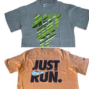 Nike Youth Size Large Bundle of 2 T-Shirts